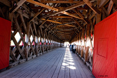 Inside the Wakefield Covered Bridge - Wakefield, Quebec.