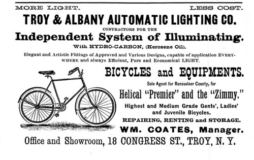 Troy and Albany Automatic Lighting 1895