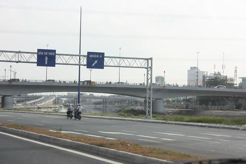 One of the few freeways in Vietnam