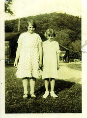 Sisters, circa 1936 (stelladanza's confections) Tags: sisters pennsylvania farm mother aunt mid1930s alleghenycounty