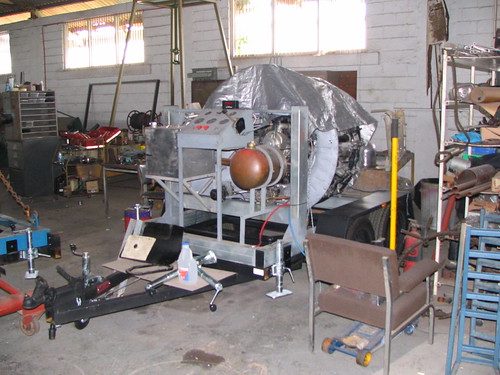 AHSNT's Pratt and Whitney Engine and Trailer January 2006