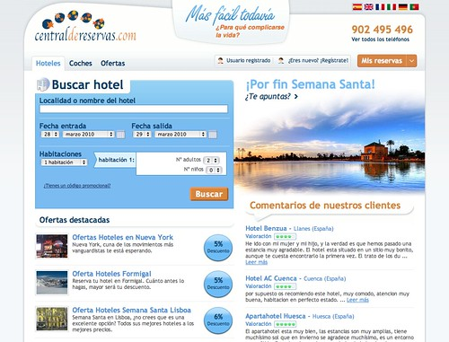 Home www.centraldereservas.com