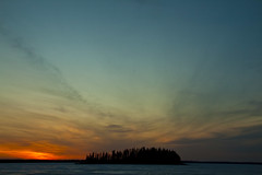 Burning Clouds (bwpcoax) Tags: sunset sky lake clouds alberta 365 elkislandnationalpark astotin perfectsunsetssunrisesandskys