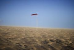 Strand met wind