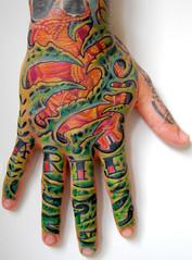 Organic hand tattoo Da Vinci Fetus tatuagem (Tat