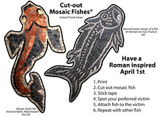 April Fools' Day - Fish Supply (vintagedept) Tags: fish history cutout paper print diy ancient roman mosaic joke prank instant vis april1st aprilfoolsday londonist poissondavril 1april aprilvis heritagekey