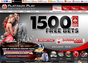 Platinum Play Casino Home