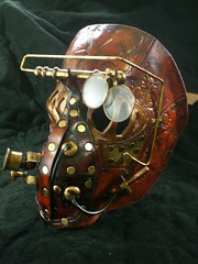 steampunk mechanical gas mask (skinznhydez) Tags: leather ian clothing mask arm goggles lion medical copper gasmask cuff brass monocle gauntlet steampunk costum attire bracer finchfield skinznhydez