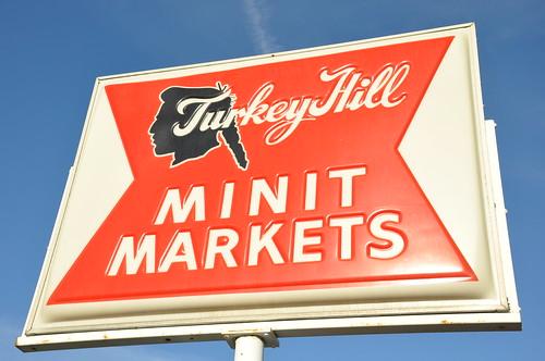 old-school Turkey Hill sign