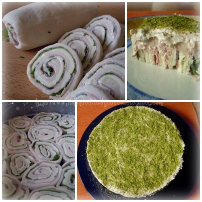 Cheesecake al prosciutto e pistacchi