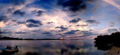 Islamorada sunset (tjdewey) Tags: travel sunset autostitch panorama weather clouds keys boats florida bluesky iphone tiffenphotofx