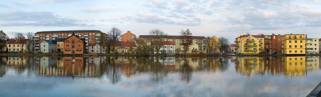 Panorama of Norr, Eskilstuna and Eskilstunaån.