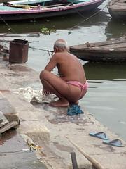 Washing 1.3 (amiableguyforyou) Tags: india men up river underwear varanasi bathing dhoti oldmen ganges banaras benaras suriya mundu uttarpradesh ritualbath hindus panche bathingghats ritualbathing langoti dhotar langota