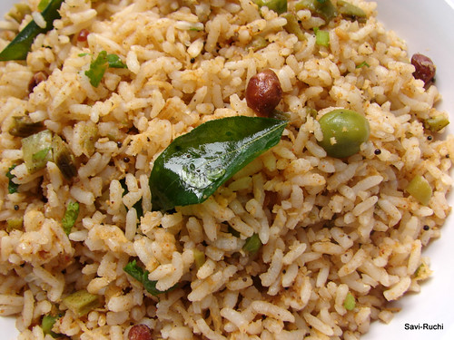 Savi ruchi gorikayi bhath spicy cluster beans rice rice 2 cups gorikayigorikaicluster beansguar 2 cups finely chopped peas a fistful or approximately 12 cup optional ccuart Choice Image