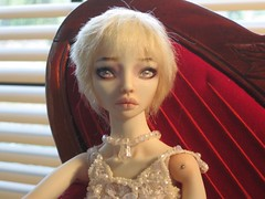Bride (OrendaDoll) Tags: bride doll blonde shorthair tess porcelain enchanted porcelaindoll balljointeddoll enchanteddoll pforforum brideodfrankenstein