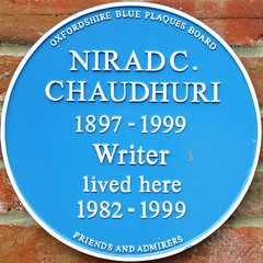 Photo of Nirad C. Chaudhuri blue plaque