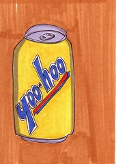 Yoo-Hoo Can (Homemade Pop) Tags: art artwork artist folkart outsiderart folk originalart contemporary drawings pop popart homemade marker prints prismacolor foodart doodling 5x7 magicmarker foodpackaging pilotpen cheapart retroart brightart originalillustration quirkyart