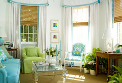 Green Teal Living Space