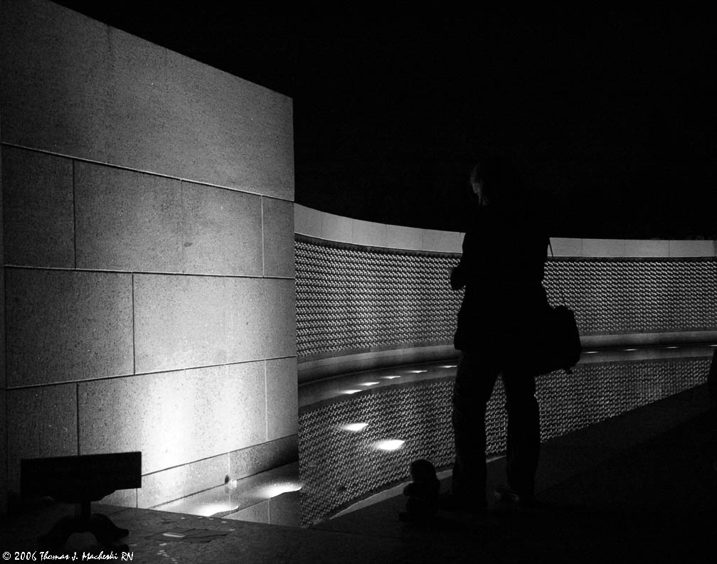 WW2 Memorial at Night #2