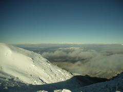 天狗岳山頂より、北アルプスを遠望