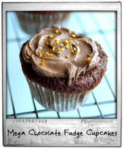 Mega Chocolate Fudge Cupcakes