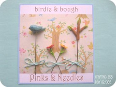 birdie and bough on cardstock (Pinks & Needles (used to be Gigi & Big Red)) Tags: birdie spring blossom kawaii etsy day15365 crafting365 gigiminor pinksandneedles pintoppers pintopper pinksneedles
