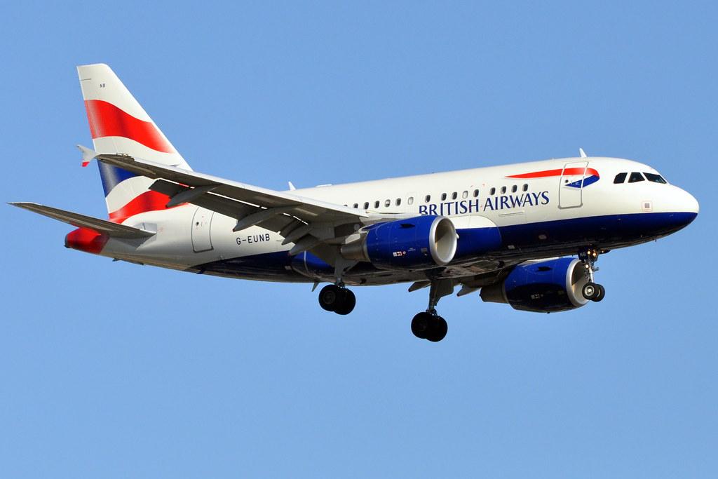 British Airways (BA) - Airbus A318-100 - G-EUNB - John F. Kennedy International Airport (JFK) - April 2, 2010 1531 RT CRP