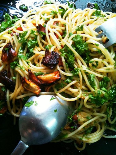 Linguine With Garlic Oil And Pancetta Recipes — Dishmaps
