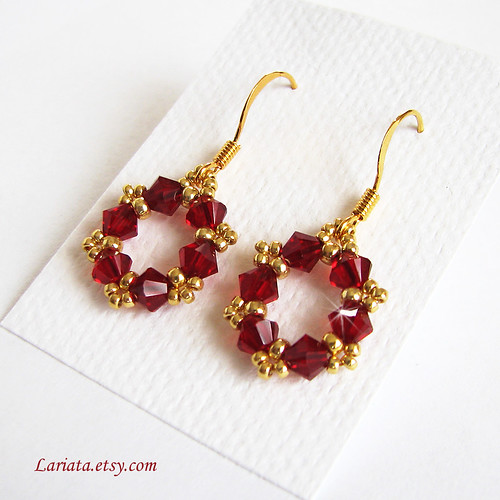 Handmade Swarovski Crystal Earrings by Lariata