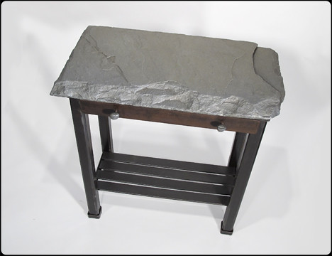 Black and Blue Stone Top Table