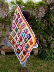 Baby blanket (Mundo a cores) Tags: baby wool children colorful crochet beb blanket criana decor decorao manta