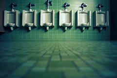 masculine (all the fine things) Tags: masculine mens urinals greentile highschoolbathroom parallelvisiongroup toocleantobetrue