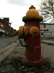 Old hydrant (hoohaaphotos) Tags: signs newyork hydrant closed departmentstore oldbuilding oneonta outofbusiness wallst closedstore bresees oneontany