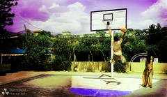 He can fly! (Shaheer Shahid) Tags: school guy basketball hoop ball court fly jump play roots hassan rim dunk ghani