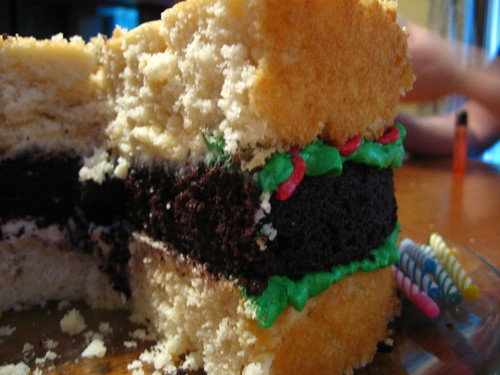 Cookie's Hamburger Birthday Cake