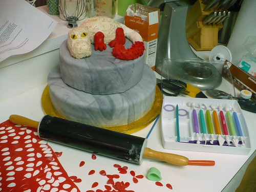 Dragon Cake - in progress