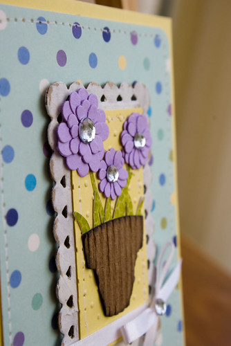 Die Cut Flowers Card (2)