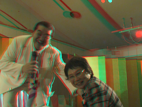 This 3D photograph was taken by Japanese SYOGI title holder Toshiaki Kubo with FUJIFILM REAL 3D-撮影:久保利明王将・棋王 FUJIFILM REAL3D 久保二冠誕生祝賀会-anaglyph--2010/05/02-DSCF0596