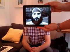 lomokev iPad portrait (lomokev) Tags: apple beard photo mac flat openhouse geeky lomokev kevinmeredith iphone ipad macbook macbookpro flickr:user=lomokev flickr:nsid=40962351n00