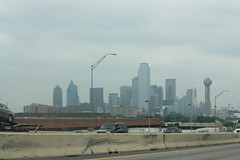 Overcast Dallas Skyline from I-30 (Adam's Journey) Tags: vacation dallas texas skylines favorites 2010 i30 interstate30 canonxsi