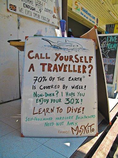 call urself a traveller