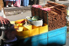 Cinnamomum verum (Cinnamon) in markets in La Paz (Arthur Chapman) Tags: food cinnamon spice markets bolivia bark agriculture lapaz cwr cropwildrelatives verum taxonomy:class=magnoliopsida taxonomy:kingdom=plantae cinnamomum cinnamomumverum geocode:method=googleearth geocode:accuracy=500meters geo:country=bolivia taxonomy:family=lauraceae taxonomy:order=laurales taxonomy:genus=cinnamomum taxonomy:binomial=cinnamomumverum taxonomy:common=cinnamon