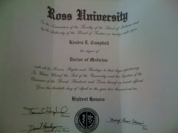 "My ""fake"" medical diploma"