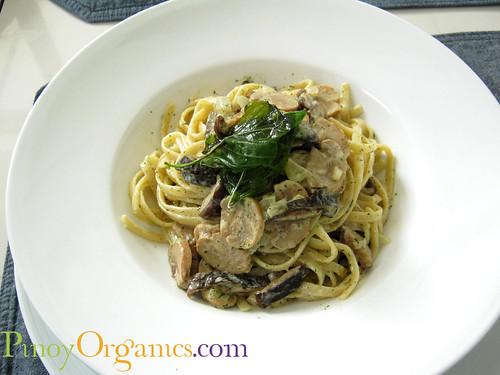 LBV White Oriental Mushroom Linguini