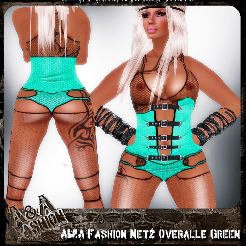 A&A Fashion Netz Overalle Green