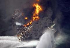 Transocean Deepwater Horizon Explosion (Roughneck City) Tags: fire horizon explosion burning british bp petroleum deepwater transocean