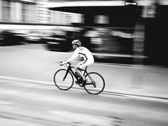 Biker Panning (CoolMcFlash) Tags: vienna wien street city blackandwhite bw white man black monochrome bike bicycle sport speed austria sterreich movement cycle bewegung sw fujifilm biker mann panning uphill schwarz fahrrad radfahrer bewegungsunschrfe geschwindigkeit weis sportler bergauf strase intentionalcameramovement s100fs