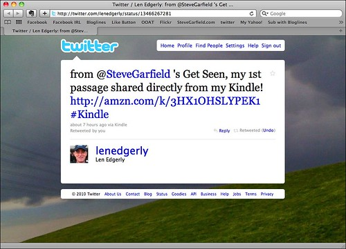 Amazon Kindle Highlights Tweet