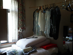 Clothes hanging (Queen Hotel)