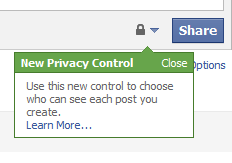 Facebook Update Privacy Warning